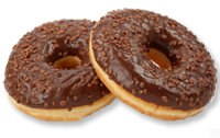 Donuts with filling and coating
